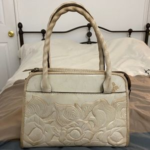 Patricia Nash - Paris Satchel in White